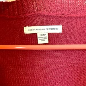 American Eagle Red Cardigan XS